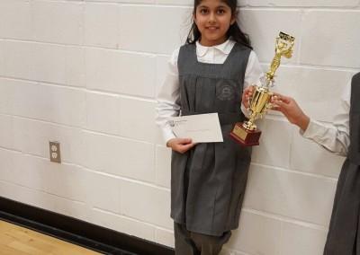 First place winner Hibbah Nisar Grade 3