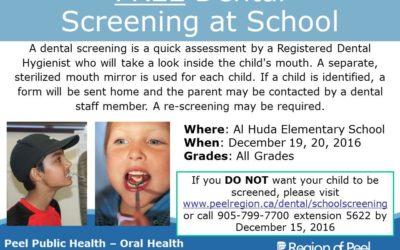 Free Dental Screening for All Grades