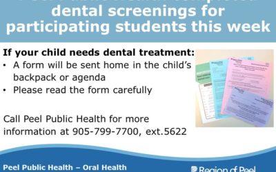 Peel Public Health Dental Screenings Complete