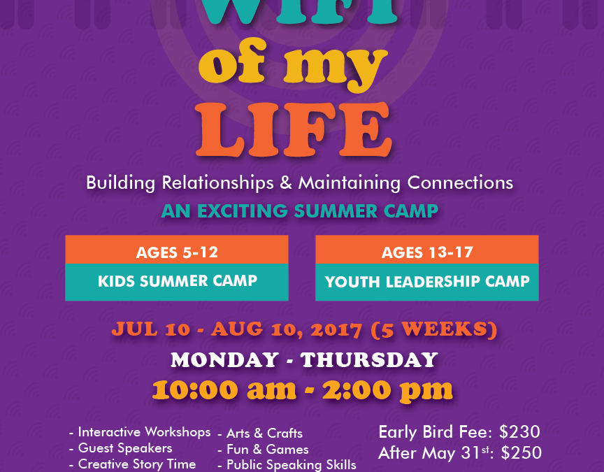"Al Huda Summer Camp 2017 – ""Wifi of my Life"" – Early Bird Registration Open!"